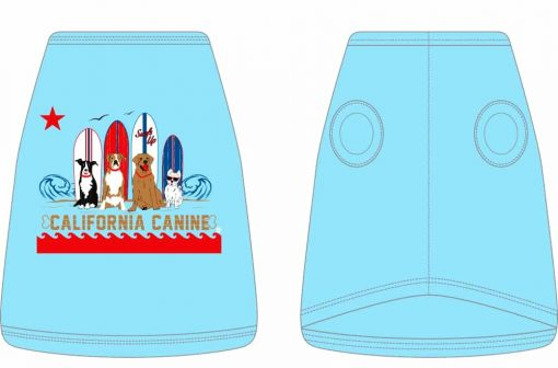 Dukes Surf dogs_Dog Tank_Blue