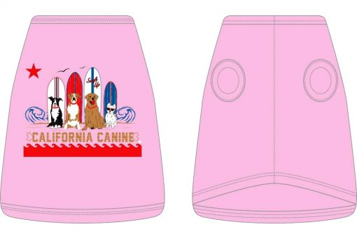 Dukes Surf dogs_Dog Tank_Pink
