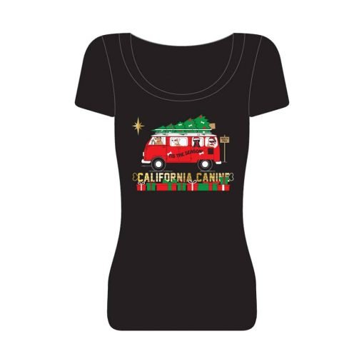 Christmas-Road-Trip_Womens-T-Shirt-Black